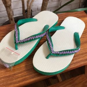 Shoes - NWT Bedazzled Flipflops